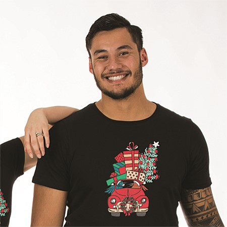 Chirstmas Wishes Mens Kiwi Xmas Tee & Boxer Set