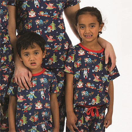 Christmas Kids Xmas Sloth Tee & 3/4 Pant Set