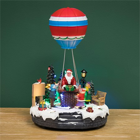 Christmas Wishes Air Balloon Santa With Music