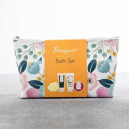 Floral Gift Set In Beauty Bag