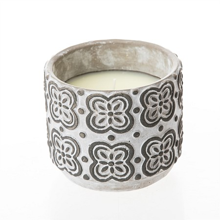 Seaside Supplies Black White Mosaic Citronella Candle