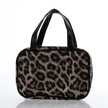 Leopard & Snakeskin Print Cosmetic Organisers with Handles