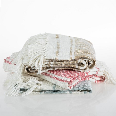 Home Chic Slub Woven Stripe Throw