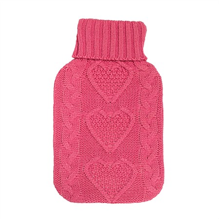 Hush Hot Water Bottle Cover Knitted  Argyle