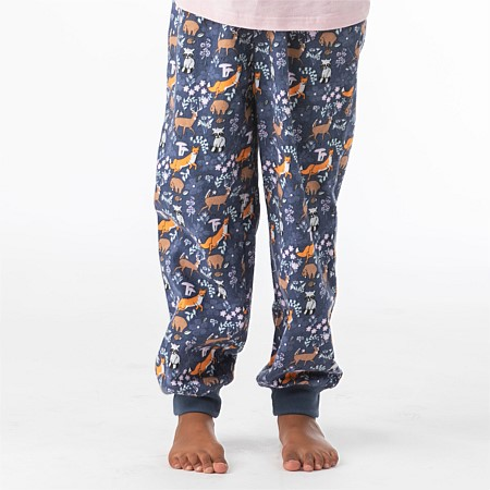 bb&b Kids Girl Woodland Flannelette Pants