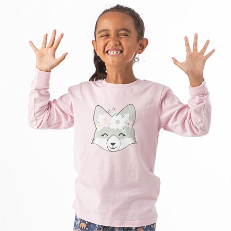 bb&b Kids Girls Fox Long Sleeve T-shirt