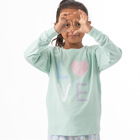 bb&b Kids Girls Love Long Sleeve T-shirt