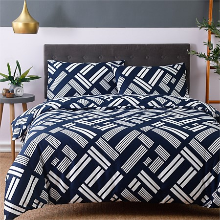 Home Co Block Print Duvet Covet Set