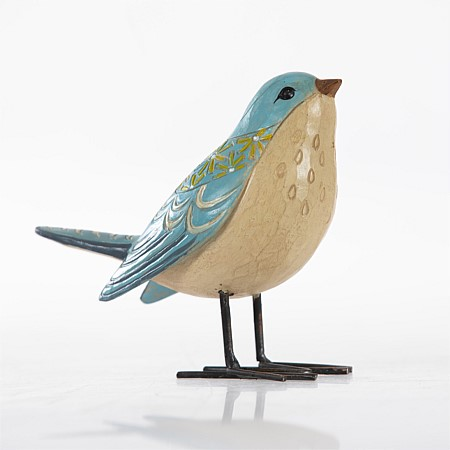 Design Republique Temple Blue Patterned Bird