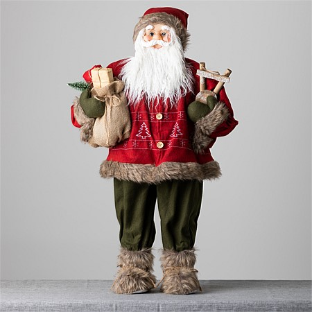 Christmas Wishes Traditional Standing Santa 90Cm