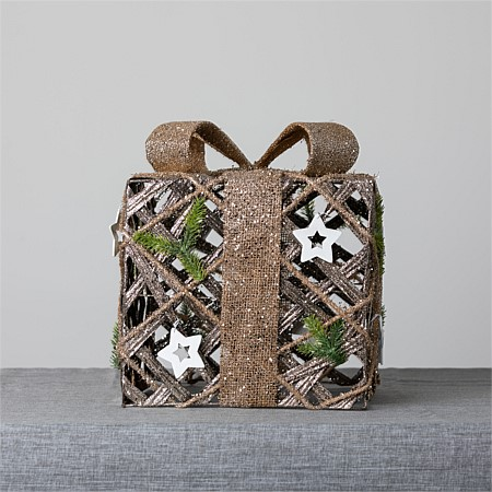 Christmas Wishes Rattan Giftbox