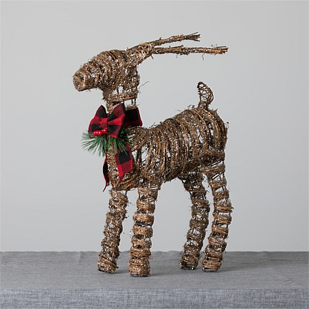 Christmas Wishes Rattan Reindeer