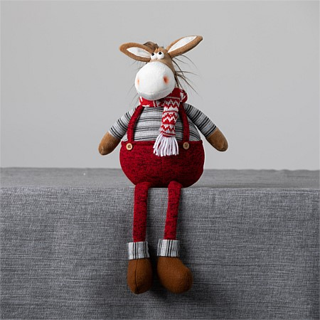 Christmas Wishes Mr Donkey With Overalls Sitting 50Cm