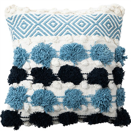 Design Republique Iona Blue Textured Cushion