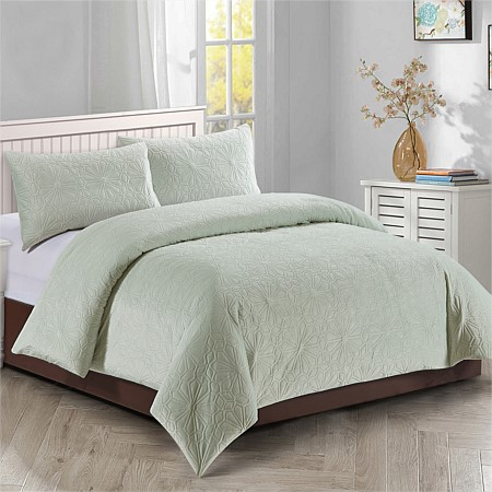 Solace Augustine Embossed Duvet Cover Set