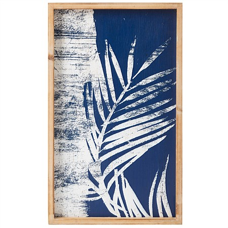 Solace Blue & White Palm Wall Art A