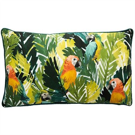 Design Republique Bethany Jungle Parrots Cushion