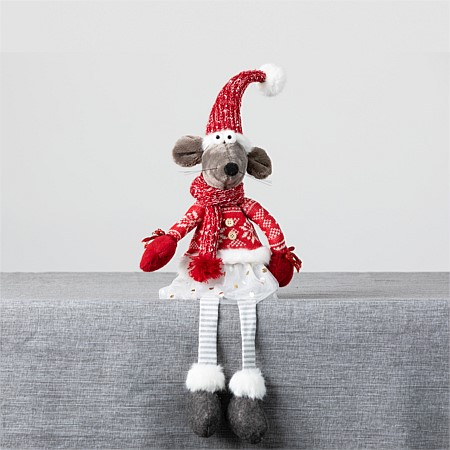 Christmas Wishes Mrs Mouse Sitting Jumper 50Cm