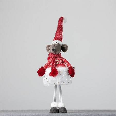 Christmas Wishes Mrs Mouse Jumper Standing 65Cm