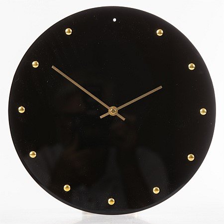 Solace Galaxy Glass Clock