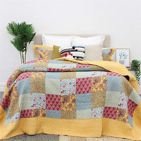 Solace Trinity Patchwork Coverlet