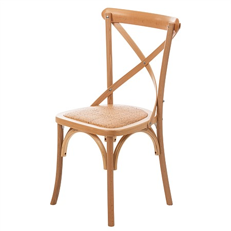 Design Republique Hudson Cross Back Natural Dining Chair