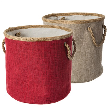 Linen Look Small Laundry Baskets