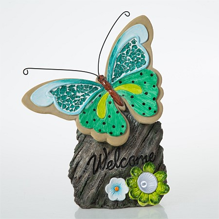 bb&b Outdoors Solar Butterfly On Stone