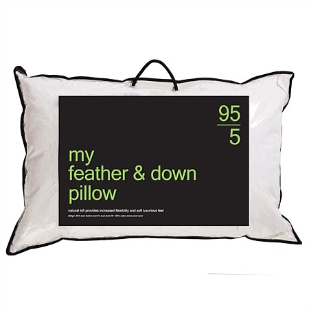 My 95/5 Feather & Down Pillow