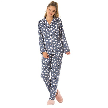 bb&b Sleep Womens Butterfly Flannelette PJs