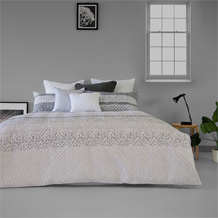 Ardor Brooklyn Embossed Duvet Cover Set