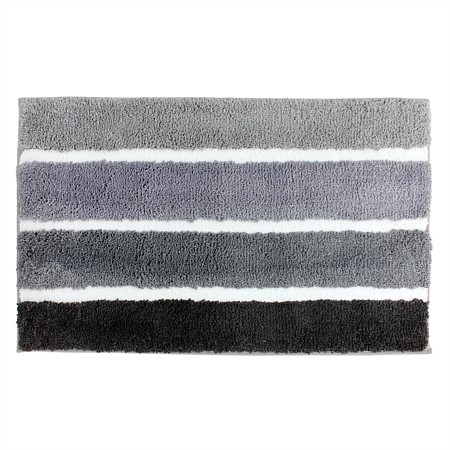 Solace Microplush Tonal Stripe Bathmat