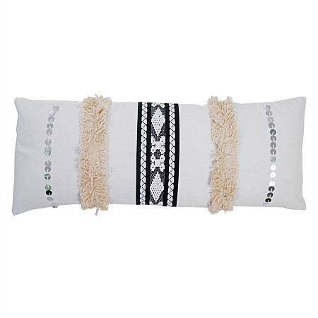 Monochrome Knotted Breakfast Cushion