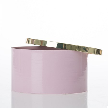 Niko & Co. Rona Gold Top Trinket Round Box