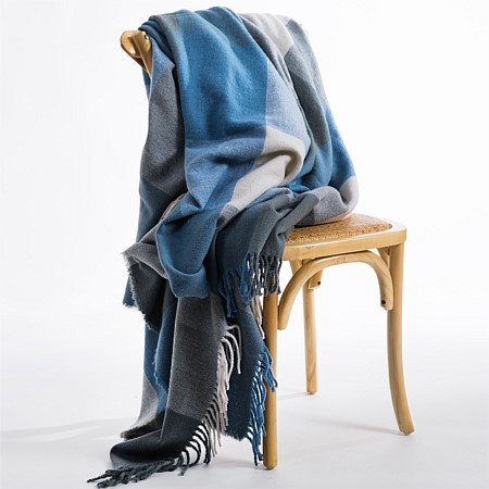 Woolrest Check NZ Wool Blanket