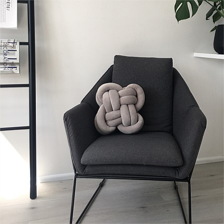 Silver Knotted Cushion