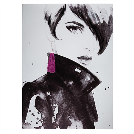 Solace Leather Jacket Girl Wall Art