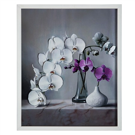 Solace White Orchid Wall Art