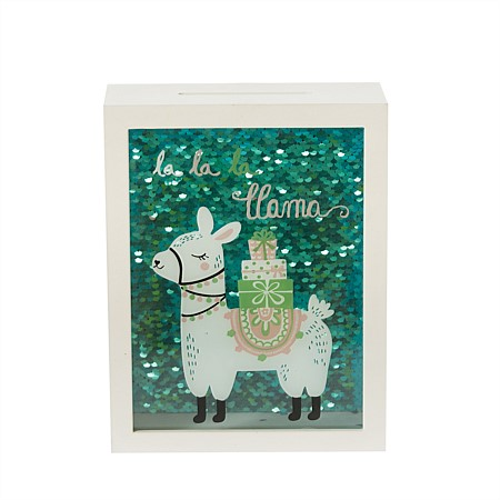 Niko & Co. Llama Sequin Money Box