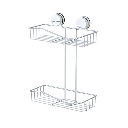 Home Essentials Twist 'N' Lock Double Shelf Rack