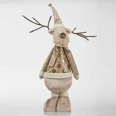 Christmas Wishes Gold Standing Reindeer