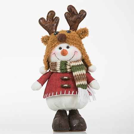 Christmas Wishes Moose Hat Short Standing Snowman