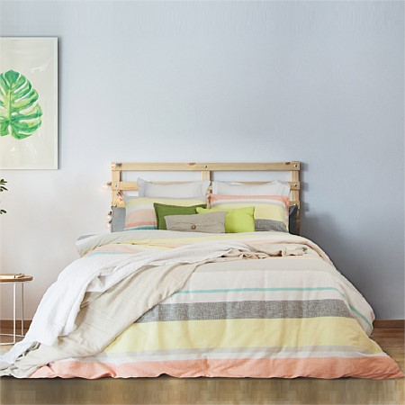 Apartmento Lennox Print Textured Quilted Duvet Cover Set