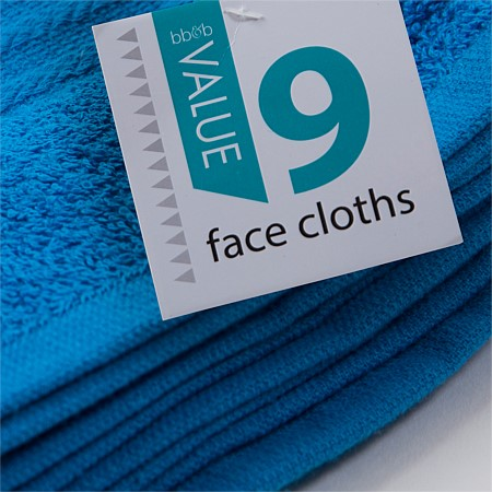 Value Face Cloth 9 Pack