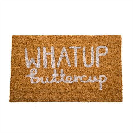 Home Co. What Up Buttercup Coir Mat