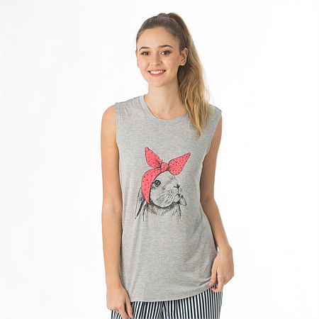 BBB Sleep Tough Bunny Comfy Tank Top
