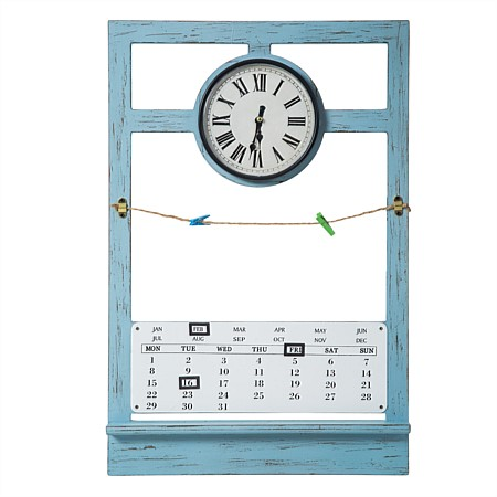 Clock With Peg Board