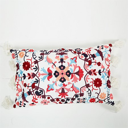 Design Republique Casablanca Floral Embroidered Breakfast Cushion