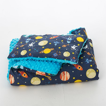Niko & Co. Space cushion and blanket sooze set