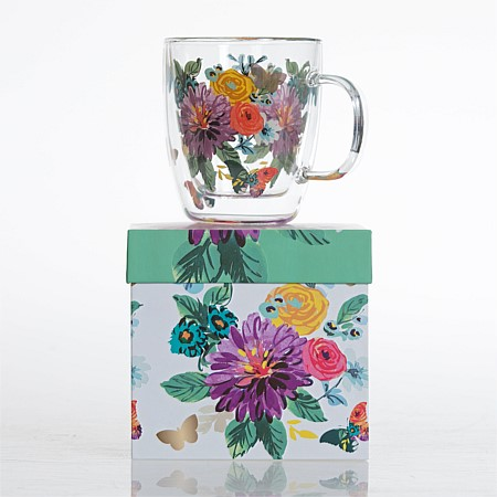 Home Chic Butterfly Double Wall Mug